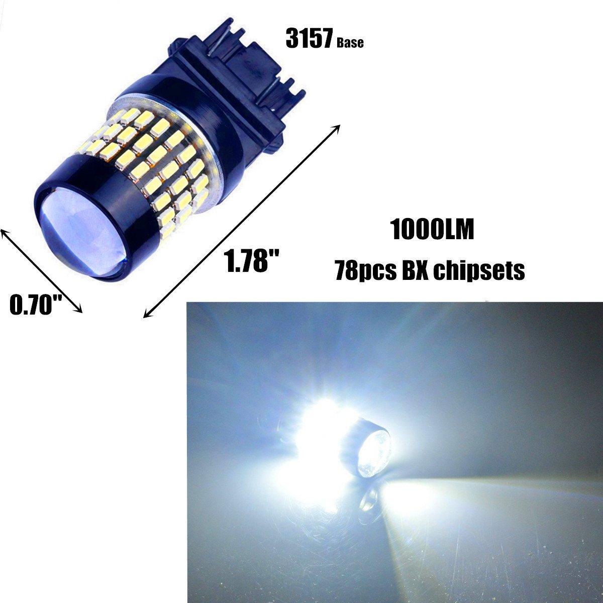 Amazon.com: Bulbeats 1000 Lumens 2pcs 78-BX Chipsets 3056 3156 3057 ...