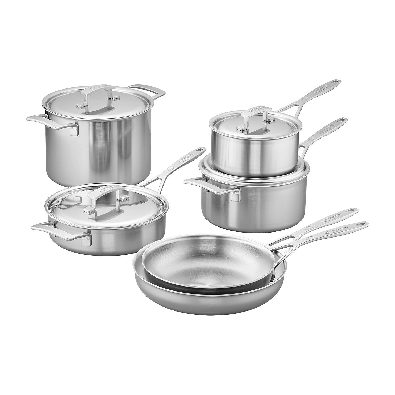 Demeyere 5 capas 10-pc Set de cocina de acero inoxidable: Amazon.es ...