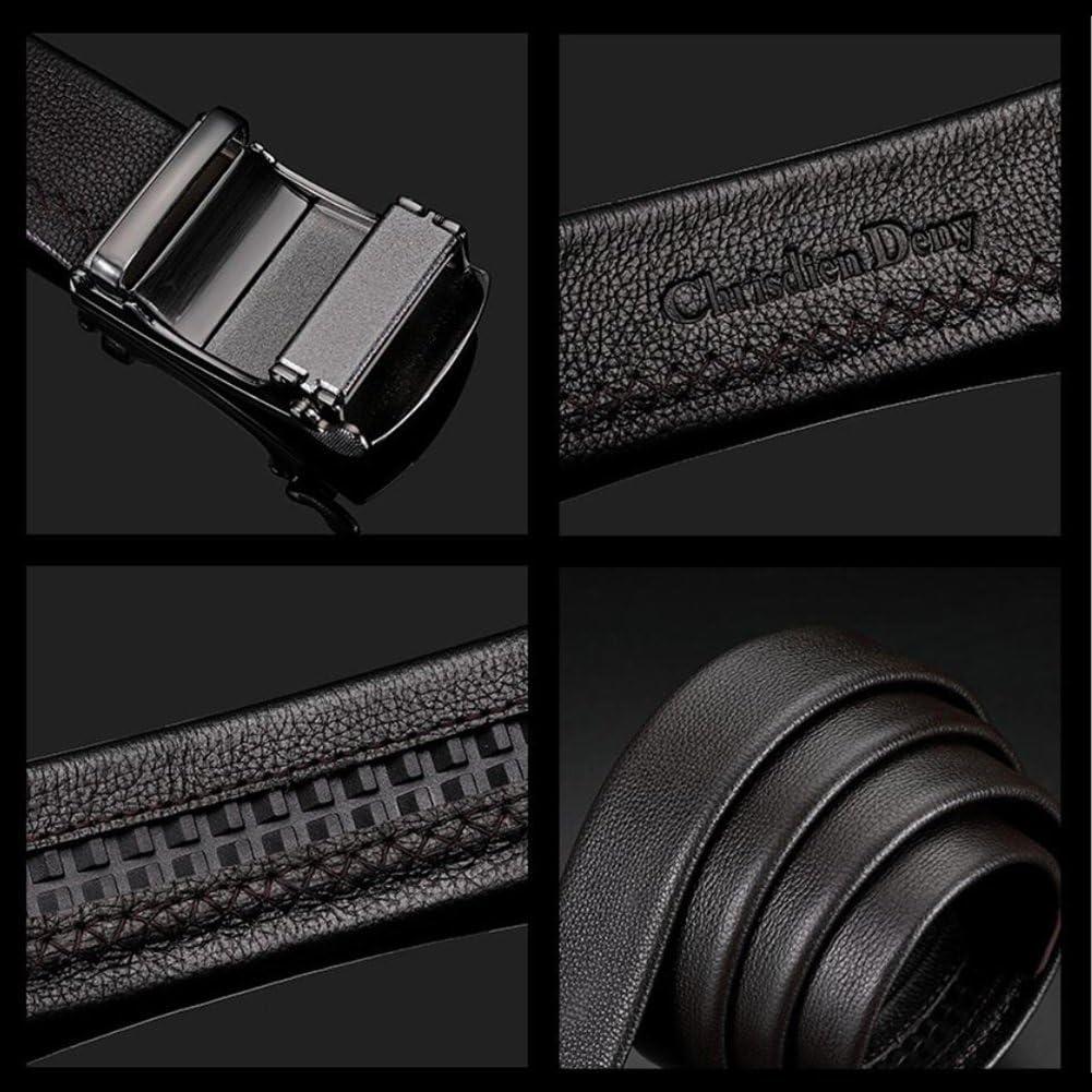 XUEXUE Mens Belt,Automatic Buckle Adjustable, Work Active Basic Leather,Formal Belts,Jeans /& Casual Wear /& Cowboy Wear /& Work Clothes Uniforms Color : B, Size : 120