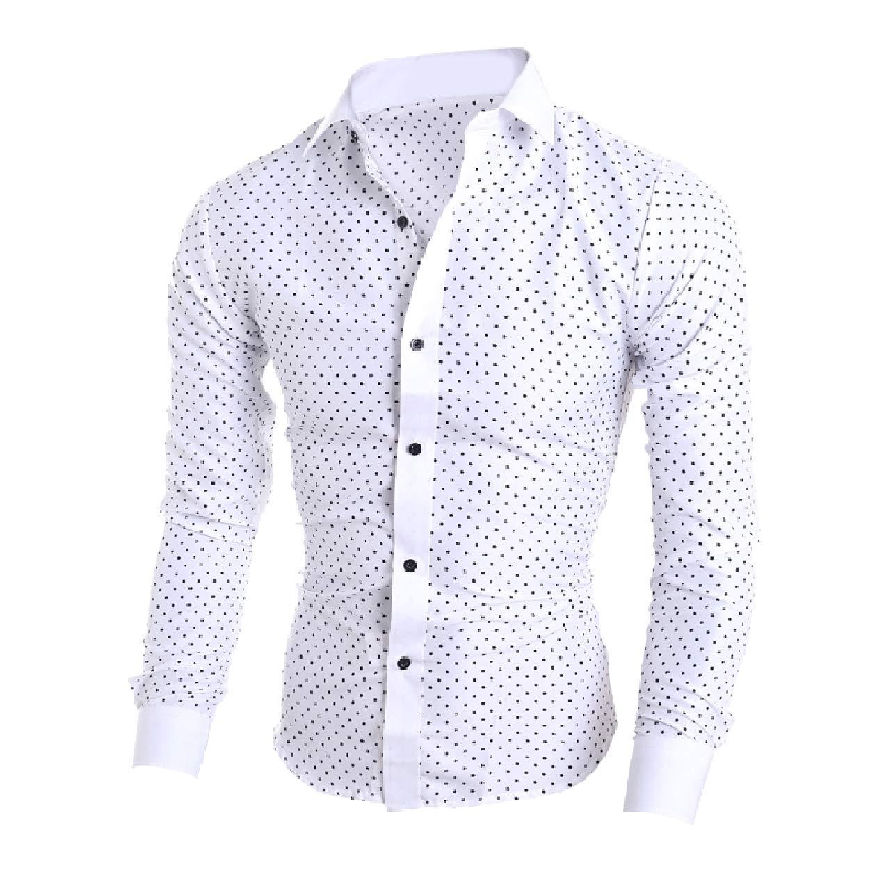 SportsX Men Slim Fitted Fine Cotton Button Long-Sleeve Western Shirt