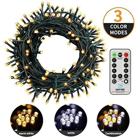Mzd8391 Fairy String 3 Colors Changing Twinkle Lights With Remote 82ft 200 Led Christmas Lights For Bedroom Patio Garden Party Decorations End To