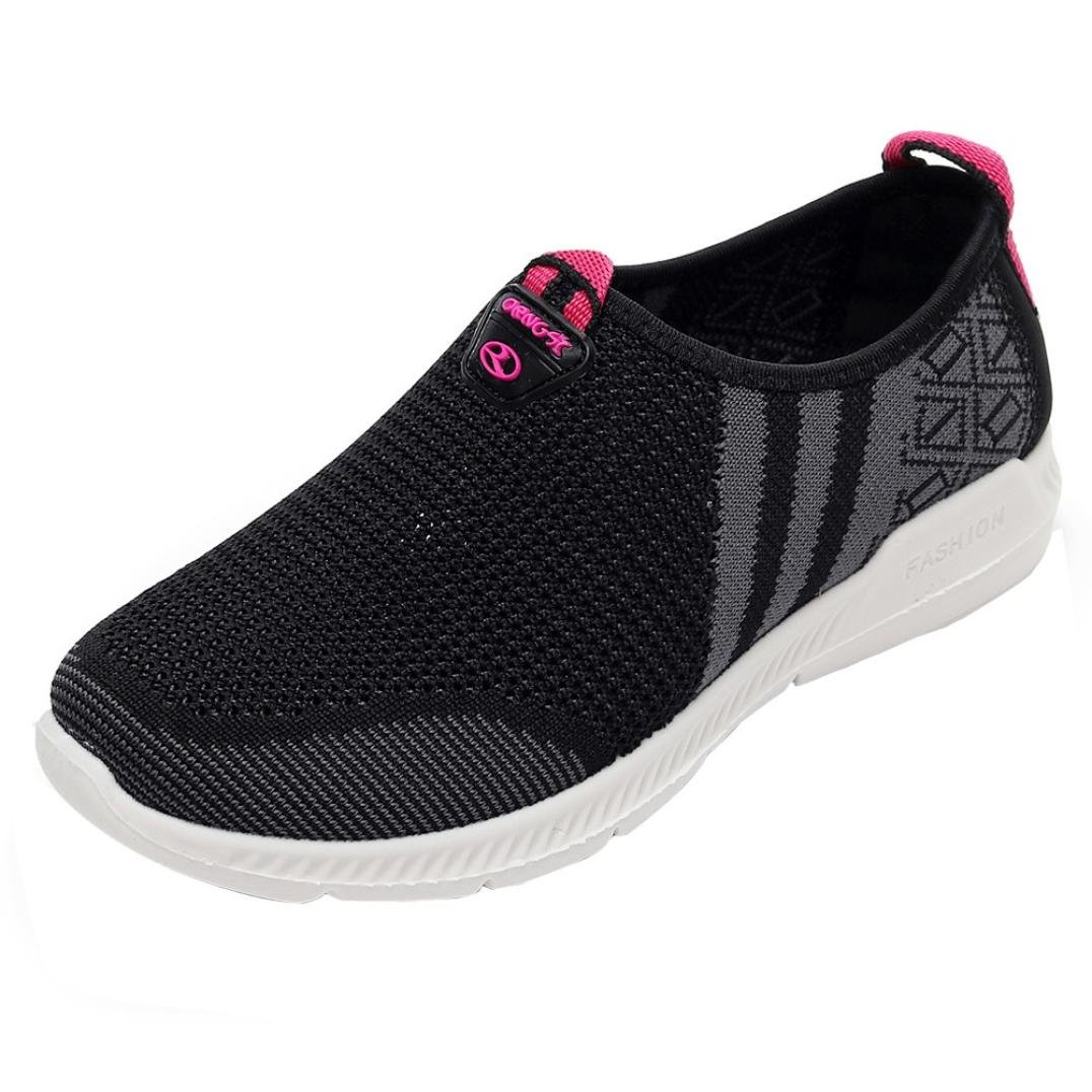 Promotion❤️Sports Shoes,Neartime Women's Casuanl Flat Heel Shoes Breathable Hole Mesh Casual Canvas Yoga Sneakers