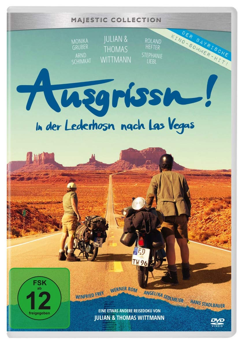 Cover: Ausgrissn - In der Lederhosn nach Las Vegas 1 DVD (circa 92 min + circa 25 min Bonus)