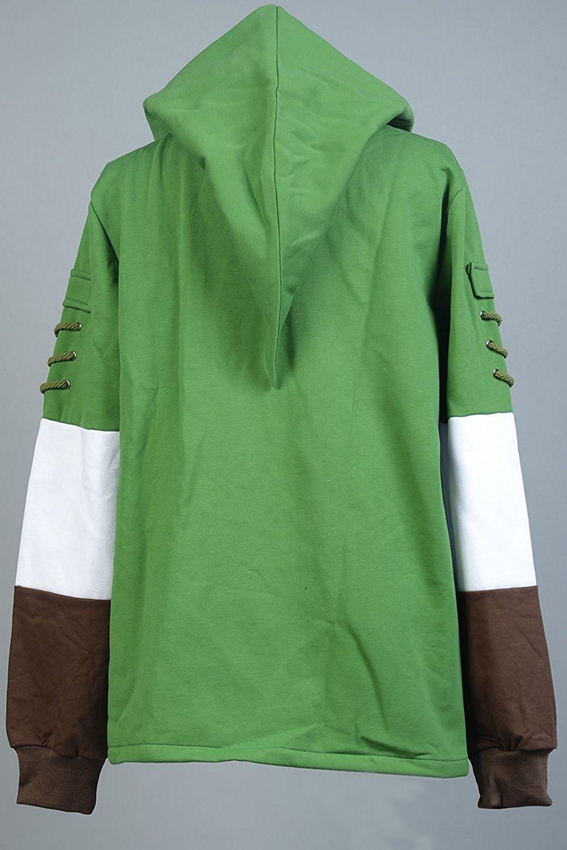 Ya-cos The Legend of Zelda Link Hooded Hyrule Warriors Zipper Coat Jacket Green (Green, Small) by Ya-cos (Image #4)