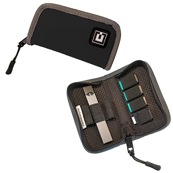newest c1ca6 8b5a8 Carrying Case Cover Holder Wallet for JUUL - Fits Most Popular Vapes, Pods  & USB Charger - Device Not Included