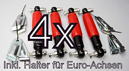 Nn Set Al Ko Octagon Plus Red Radstossdämpfer Rot Stoßdämpfer Anhänger 1800 3500kg Inklusive Halter Für Euro Achse 244086 244 086 Auto