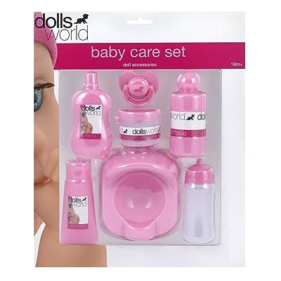 Dolls World Muñecas Mundo Cuidado del bebé Set: Juguetes y juegos