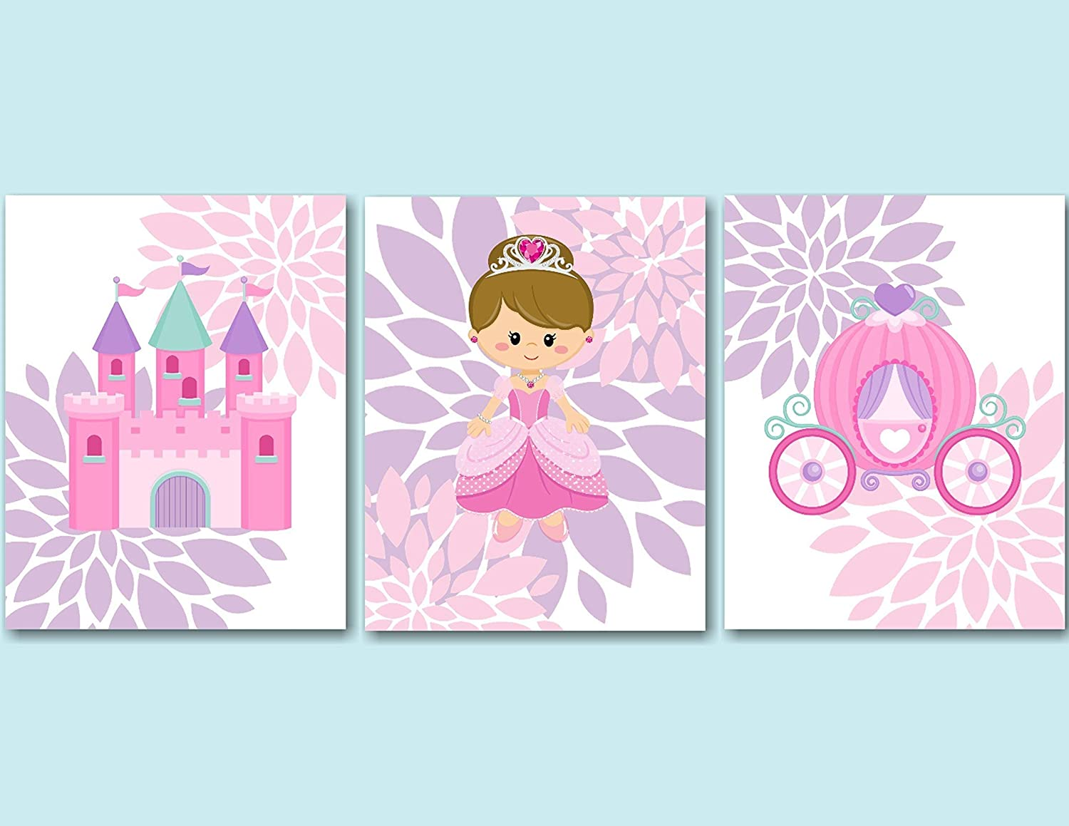 Amazon.com: Princess Décor,Princess Wall Art,Pink Purple Princess