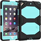 "iPad Case 9.7 Inch 2018/2017,Slim Heavy Duty Shockproof Rugged Case Hard PC+Silicone Hybrid High Impact Full Body Protective Case for Apple iPad 9.7"" 2018/2017"