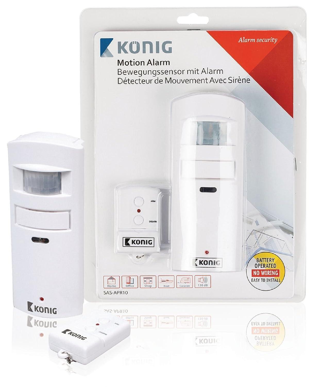 König SEC-APR10 Sensor de Movimiento, Blanco: Amazon.es: Bricolaje y herramientas