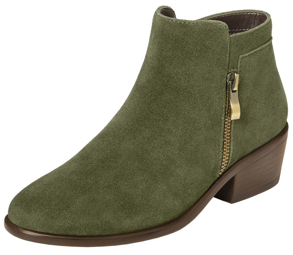 Aerosoles Women's Mythology Boot B073HYDGTQ 6 W US|Dark Green Suede