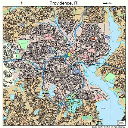 Amazon.com: Large Street & Road Map of Providence, Rhode Island RI ...