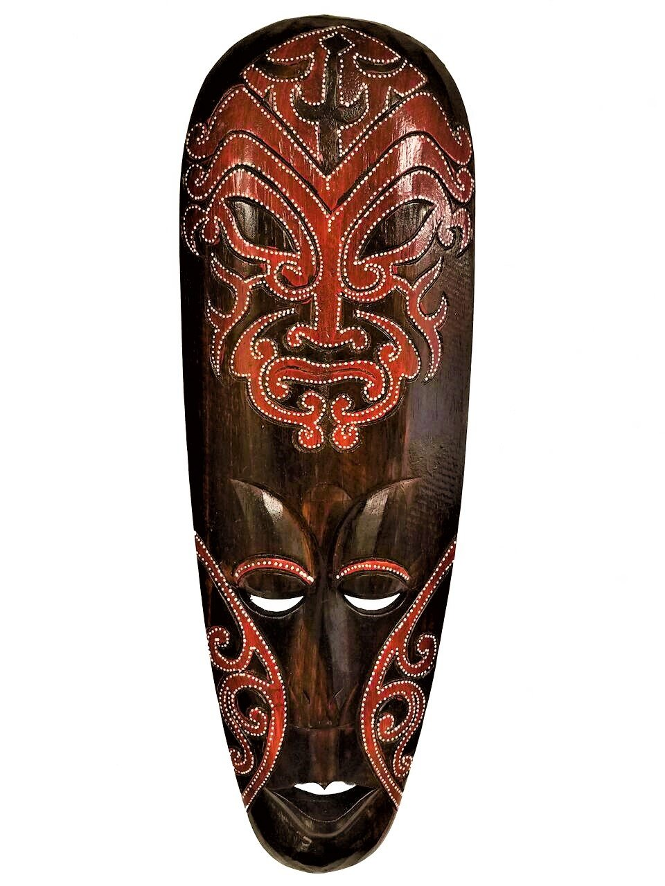 All Seas Imports Beautiful Vibrant Hand Chiseled Wood African Style Wall Decor Mask!