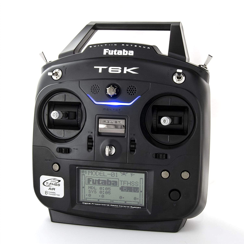 Futaba 01004373-3 T6Kh 2.4GHz 8-Channel T-FHSS Heli Spec Radio System with R3006SB Receiver