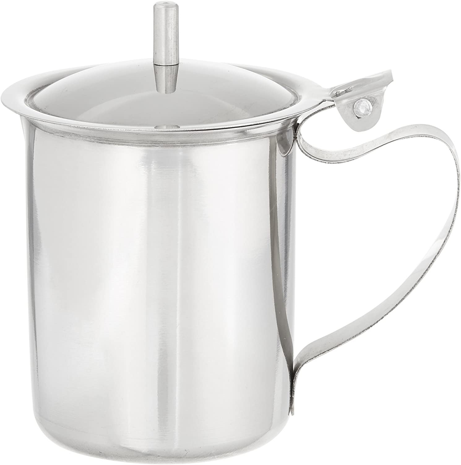 Winco SCT-10 Stainless Steel Creamer with Cover, 10-Ounce