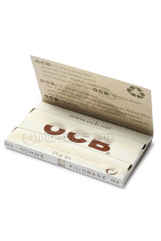OCB Schwarz Black 100er Zigarettenpapier Filigrane Gomme No 1 Box 25x 4 kurz