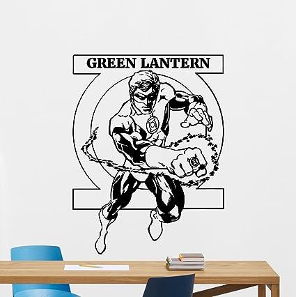 Green Lantern Wall Decal Marvel Comics Superhero Cartoon Vinyl Sticker Superhero Wall Art Design Housewares Kids  sc 1 st  Amazon.com & Amazon.com: Green Lantern Wall Decal Marvel Comics Superhero Cartoon ...