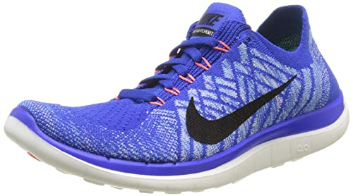 promo code 2a1eb 6425f Nike Free 4.0 Flyknit, Women's Training Running Shoes, Blue ...