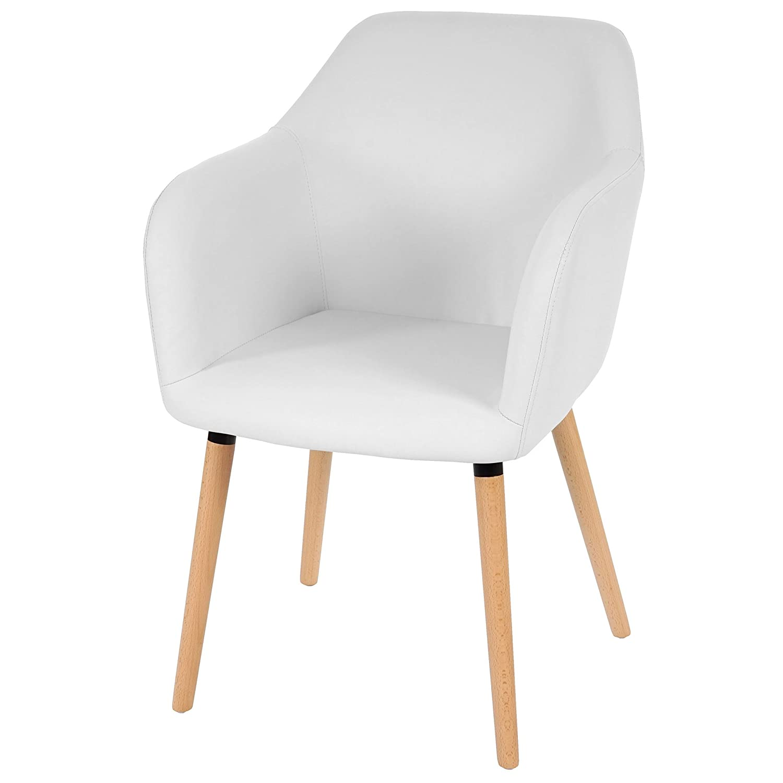 Serie Malmoe sedia sala da pranzo T381 ecopelle legno massiccio 64x58x88cm ~ bianco