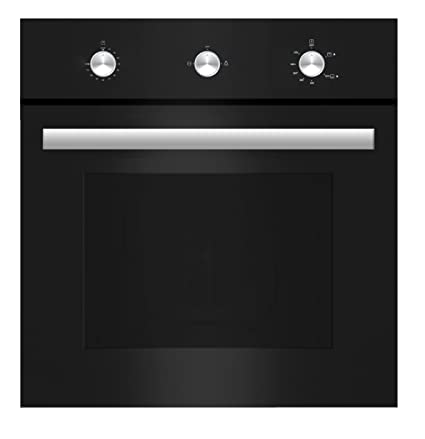 Empava 24u0026quot; Tempered Glass Built In Single Gas Wall Oven 1800W Black