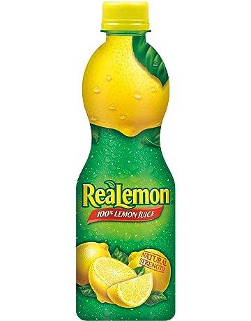 Realemon 100 Lemon Juice 8 Fluid Ounce Bottle