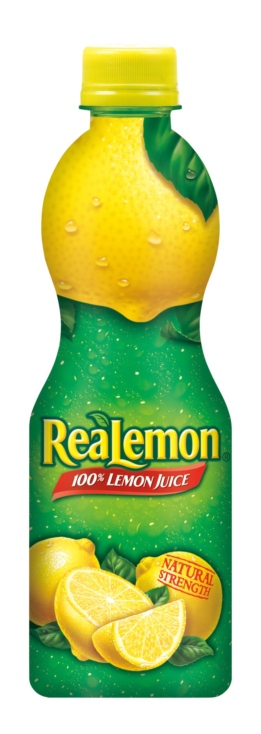 ReaLemon 100% Lemon Juice, 8 Fluid Ounce Bottle 1 One 8 fluid ounce bottle 100% lemon juice from concentrate Great for use in recipes and beverages