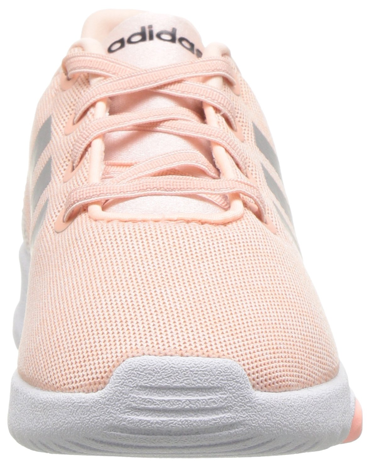 adidas Kids CF Racer TR Running Shoe, Haze Coral/Metallic Silver/White, 4K M US Toddler by adidas (Image #4)