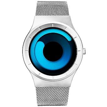 553b54ed9 SINOBI Stylish Men s Watches Blue Women s Quartz Wrist Watch with Unique  Design and Silver Stainless Steel