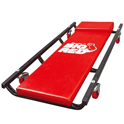 "BIG RED TR6453 Torin Rolling Garage/Shop Creeper: 36"" Padded Mechanic Cart with 4 Casters, Red: Automotive"