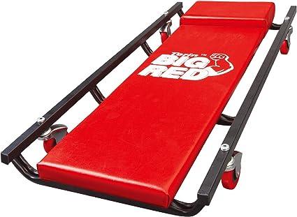 "40/"" Padded Mechanic Cart With Adjusta Torin Big Red Rolling Garage//Shop Creeper"