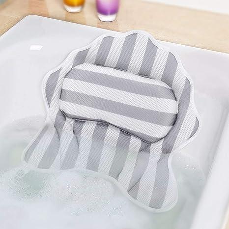 Amazon.com: SMZCTYI - Almohada de baño con 6 ventosas ...