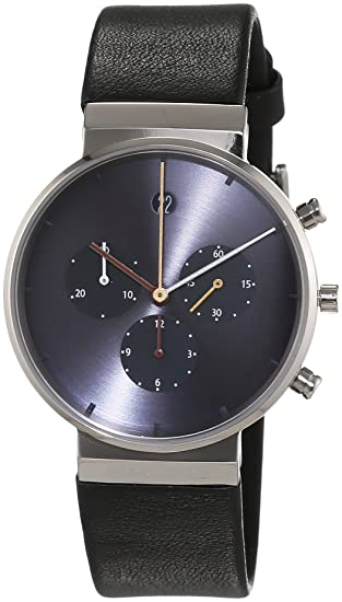 Jacob Jensen Herren-reloj analógico de pulsera de cuarzo cuero Item NO, 605: JACOB JENSEN: Amazon.es: Relojes
