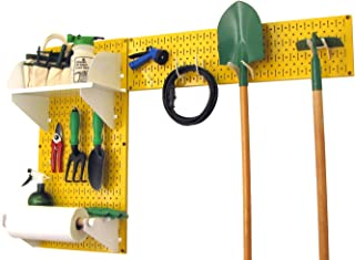 product image for Wall Control Pegboard Garden Supplies Storage and Organization Garden Tool Organizer Kit with Yellow Pegboard and White Accessories