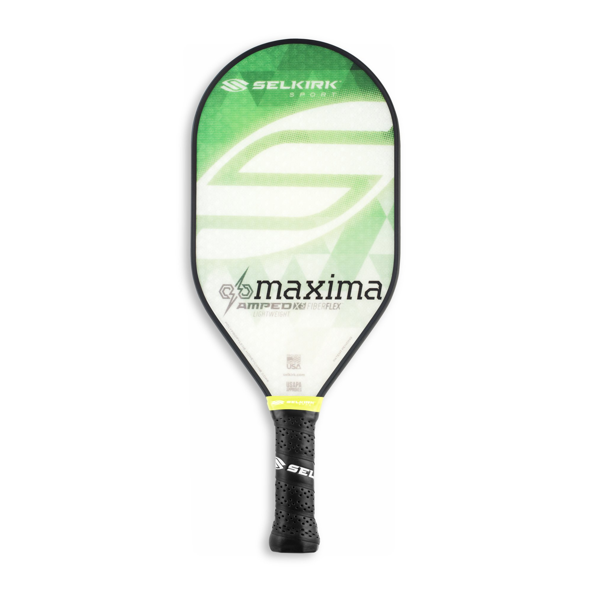 Selkirk Amped Pickleball Paddle - USAPA Approved - X5 Polypropylene Core - FiberFlex Fiberglass Face - 5 Sizes: Epic, S2, Omni, Maxima, and INVIKTA (Maxima Lightweight - Emerald Green) by Selkirk Sport