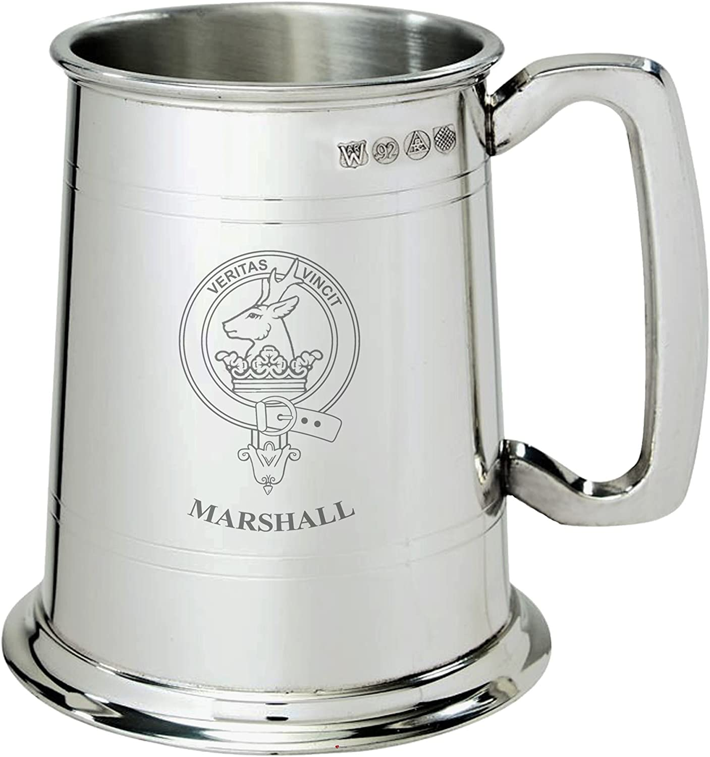 Marshall Clan Crest Tankard Max 57% OFF 1 Pewter Be super welcome Pint