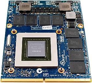 Original GDDR5 8GB Graphics Video Card GPU for Dell Alienware 13 14 17 18 R1 R2 R3 M17X R4 R5 M18X R2 R3 Gaming Laptop, NVIDIA GeForce GTX 880M N15E-GX-A2 Upgrade Replacement Parts
