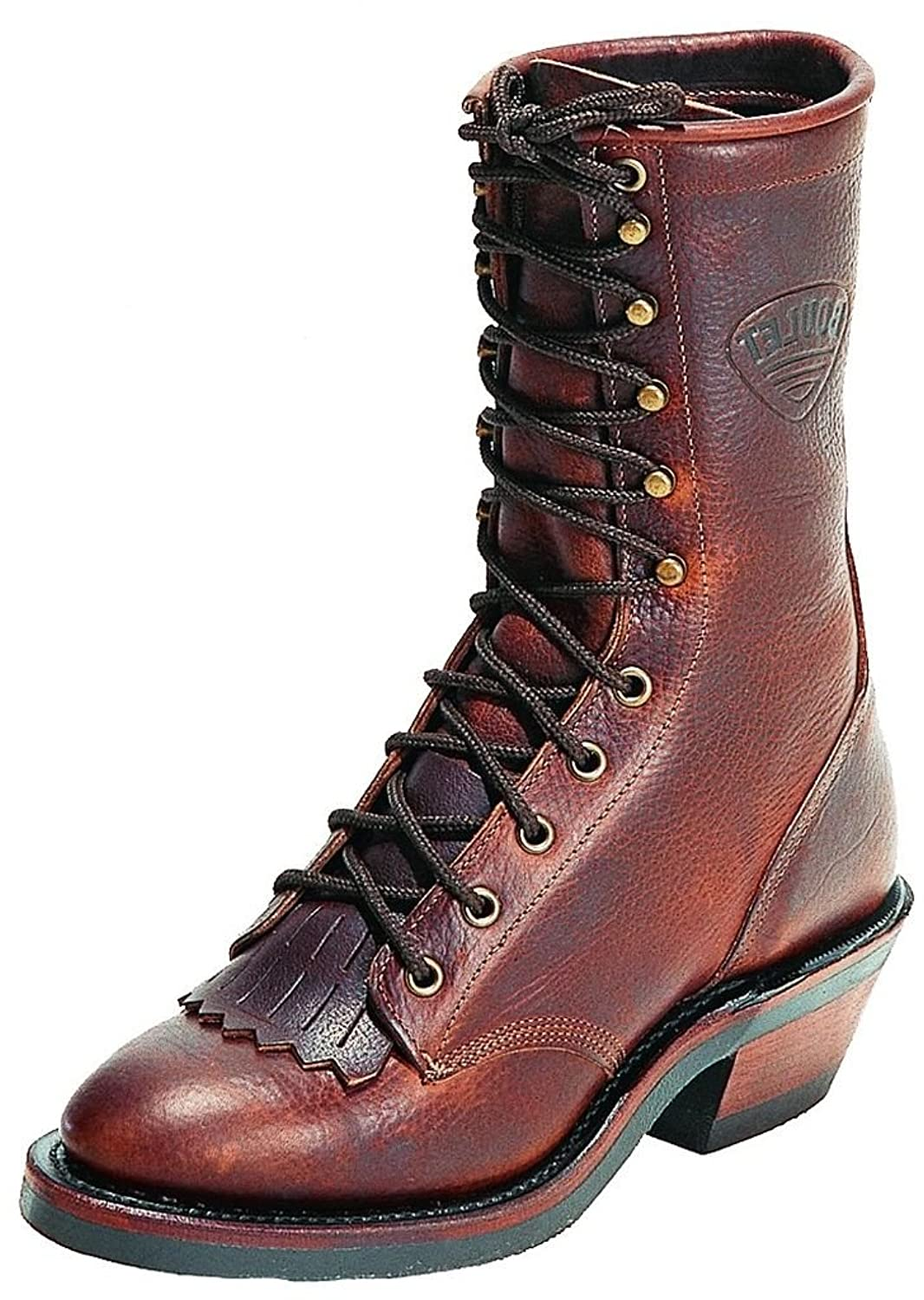 """Boulet Men's Packer Grizzly Mountain 9"""" Lace Up Boot Round Toe - 8099"""
