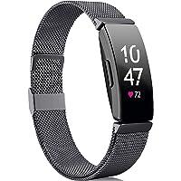 Faliogo Kompatibel med Fitbit Inspire rem/Fitbit Inspire HR rem/Fitbit Inspire 2 rem, rostfritt stål metallnät…