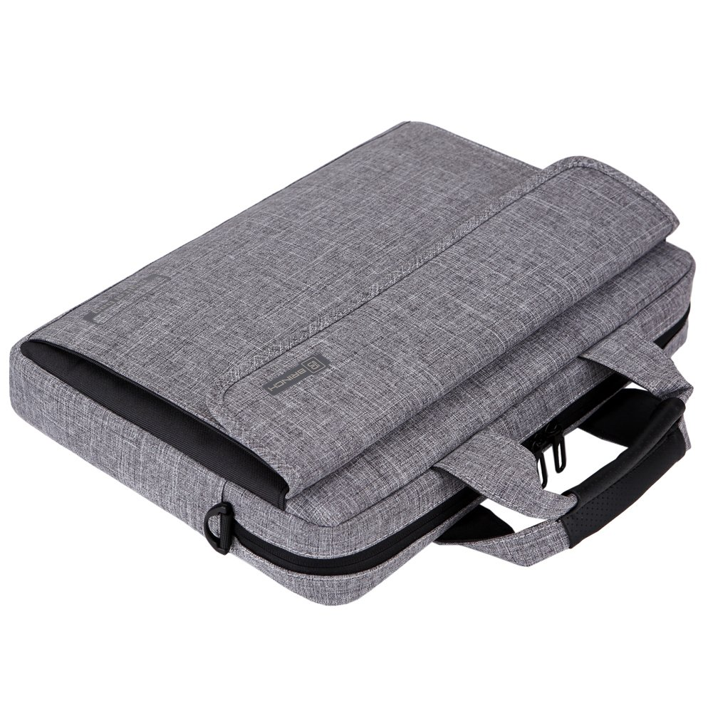 Brinch 13.6 Inch Unisex Fabric Laptop Sleeve Messenger Shoulder Bag for 13-13.6 Inch Laptop/Notebook/MacBook/Ultrabook/Chromebook Computers (Grey) by BRINCH (Image #8)