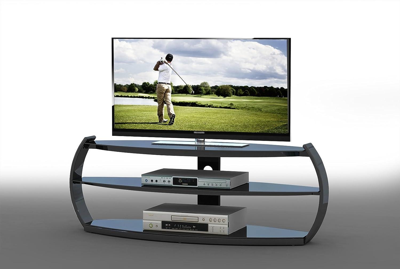 Matelpro Meuble Tv Design En Verre Coloris Noir Arona Amazon Fr  # Matelpro Meuble Tv