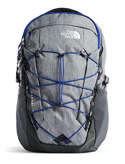 """780ef667494eb8 Amazon.com: The North Face Borealis Backpack TNF Mid Grey Heather/Marker  Blue 15""""Laptop OS: Computers & Accessories"""