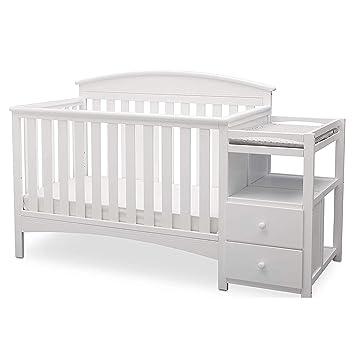 White Delta Children Bentley S Convertible Crib and Changer