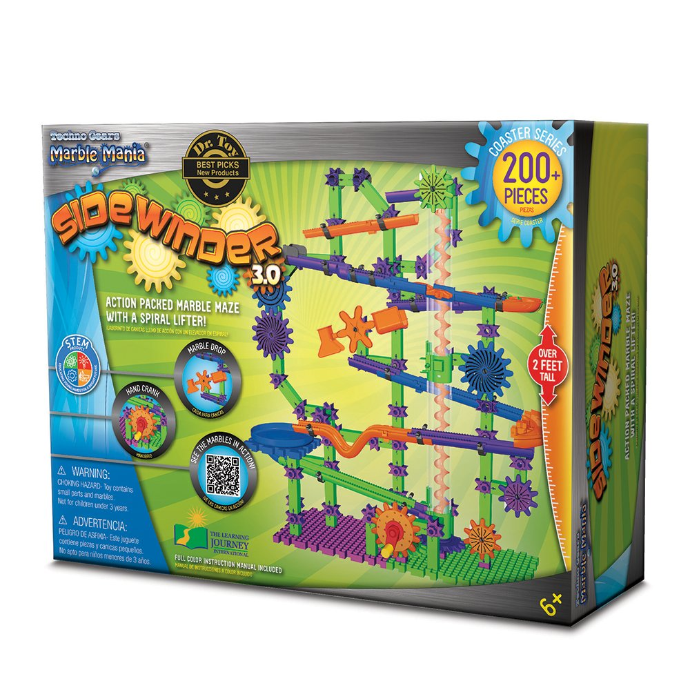 Techno Gears Marble Mania Sidewinder 3.0 200+ pcs The Learning Journey International 454275
