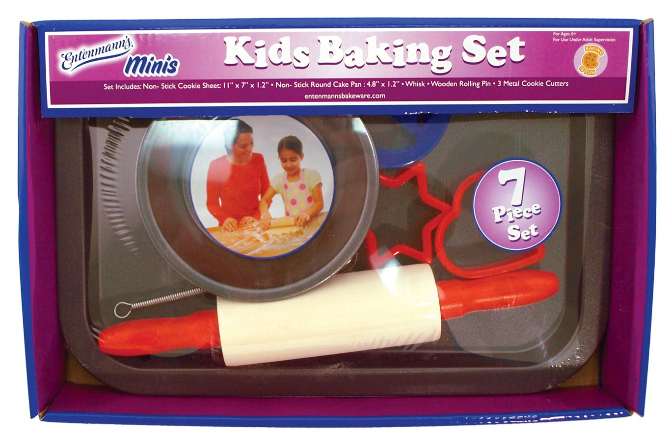 Entemann's ENT39014 7-Piece Kids Baking Set