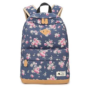 Escuela Mochilas Para Chicas Moda Floral Escuela Bolsas Bolsas de libros Daypack Viajes Bolsa Para Mujeres