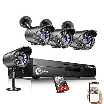 Amazon.com: XVIM - Sistema de grabación de vídeo DVR de 8 ...