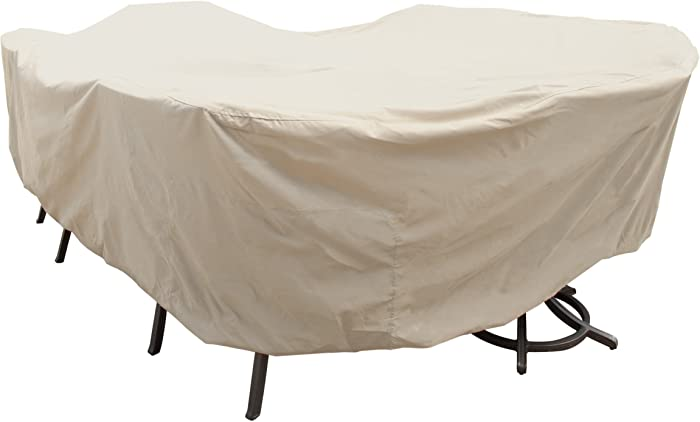 Treasure Garden X-Large Oval/Rectangle Table & Chairs w/8 ties (no center hole) - Protective Furniture Covers