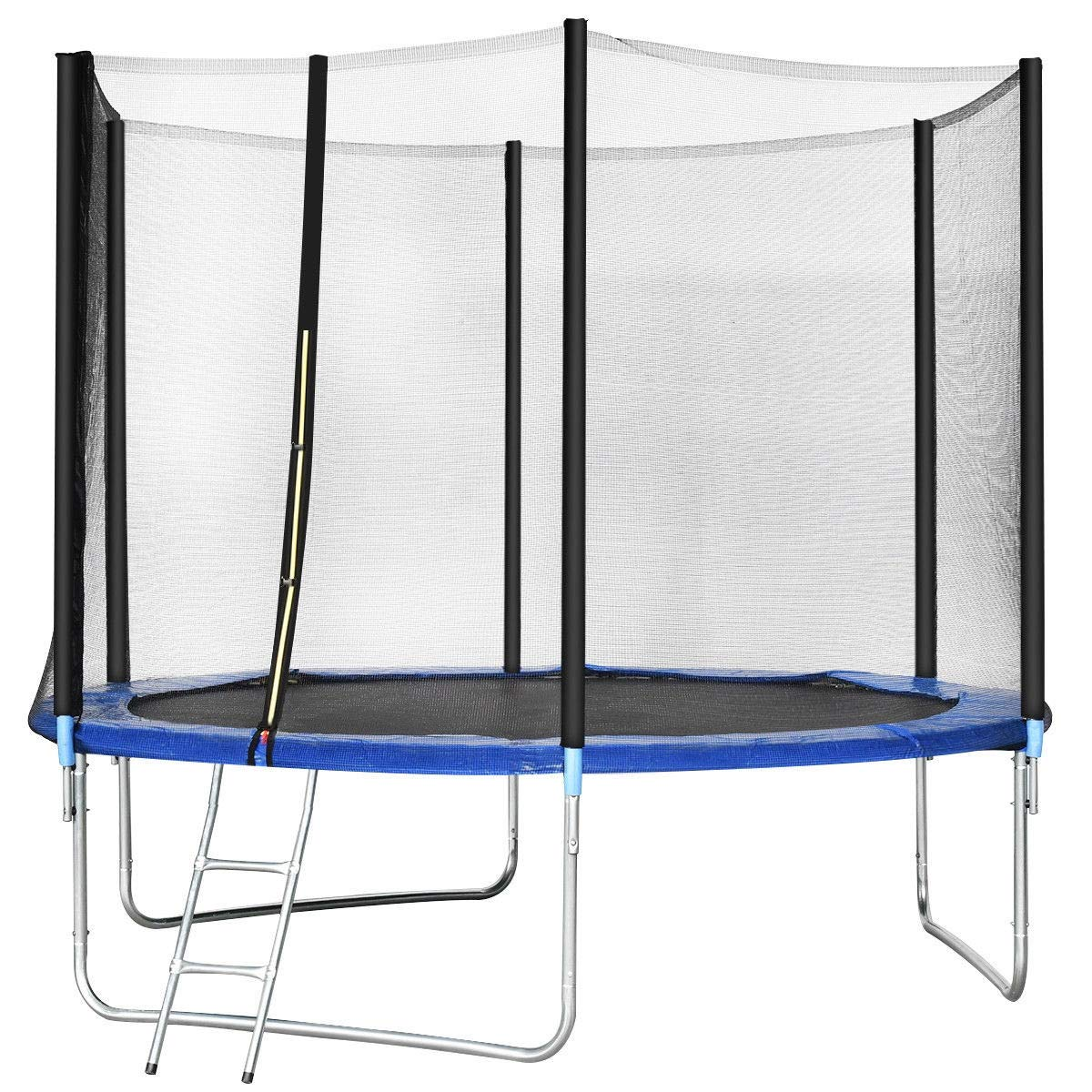 Encourage Kids Outdoors Active 10 ft Combo Bounce Jump Safety Trampoline with Spring Pad Ladder 9rit_Shop by Encourage Kids Outdoors Active 10 ft Combo Bounce Jump Safety Trampoline with Spring Pad Ladder