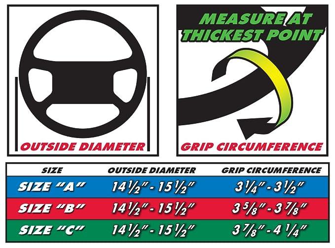 Amazon.com: Superior 58-0550L Sport Grip Steering Wheel Cover, Size