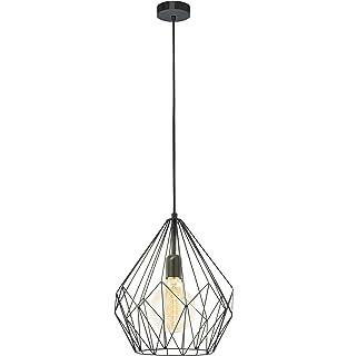 EGLO - Lámpara de techo 49254 de Carlton. Acero 1 E27. Color ...